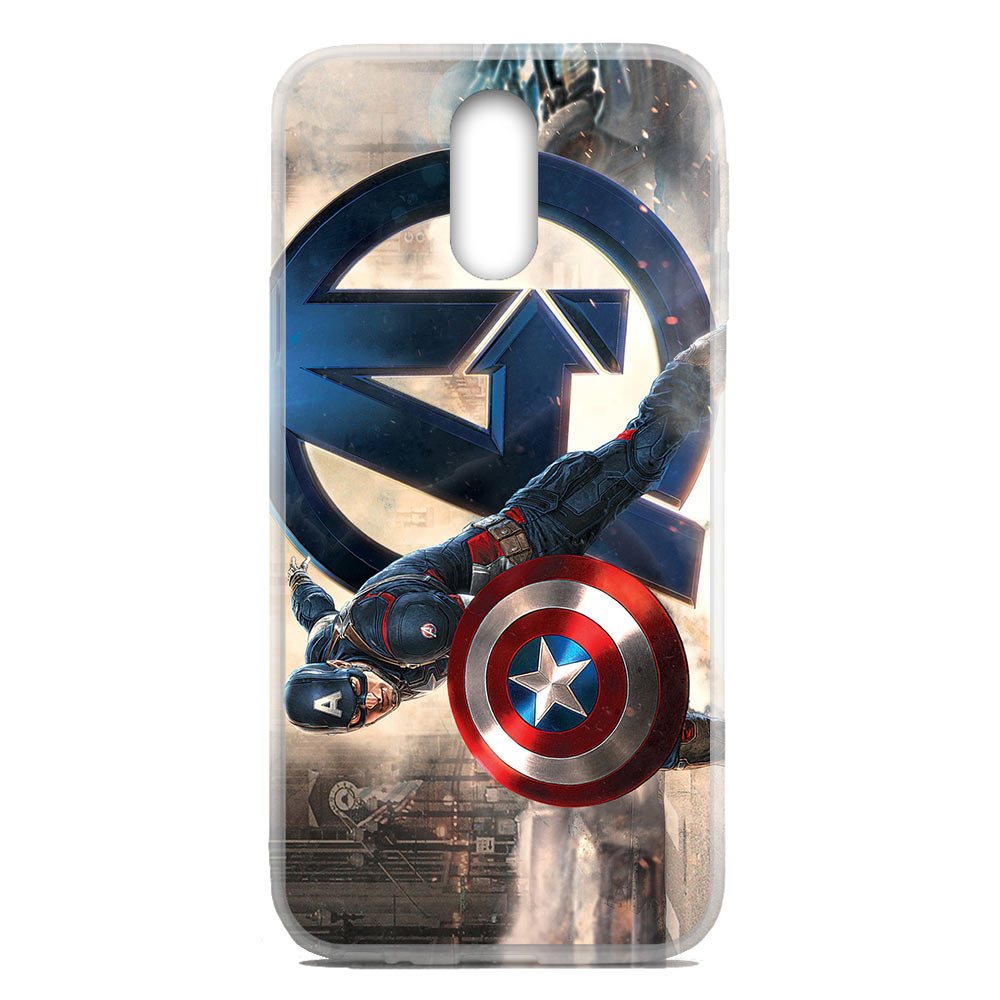 For OnePlus 6T / One+ 6T Flexible TPU Case Cover Captain